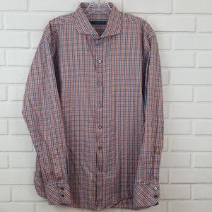 Zachary Prell Tattersall Cotton Button Down Shirt